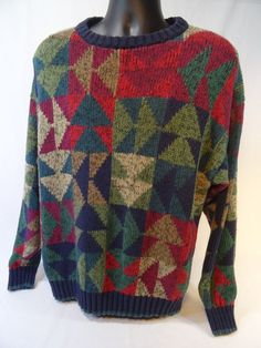 vintage #80s sweater mens xl crewneck ugly sweater  from $27.0