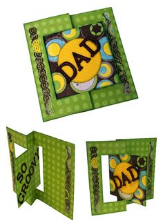 How to create a card for Dad using Sizzix Flip-It Dies <3