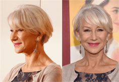 The Best Short Haircuts for Women Over 50: Bangs Add Youth