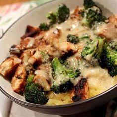 Skinny chicken brocilli alfrodo