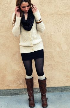 short skirt layered outfit - Google Search