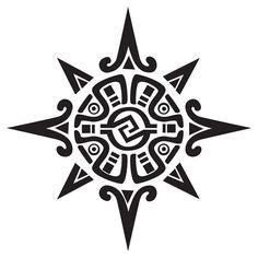 Sun design aboriginal | Superb Aztec Sun Tattoo Design