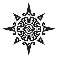Sun design aboriginal | Superb Aztec Sun Tattoo Design