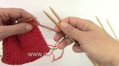 In this DROPS video we will show you how to match the invisible cast on you will have to make a kitchener stitching at the end of your work. Separate the stitches in the front and back onto two separate needles.  Cut yarn and make one tail long enough for stitching, i.e about 3 times the width of your work. Put the long strand on the darning needle and the other strand will be weaved in later.   We have a separate Drops Video for Kitchener Stitch, but this is how you do it:  Stick darning…