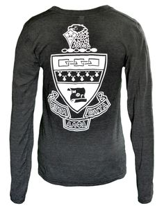 Kappa Alpha Theta Crest Long Sleeve V-Neck Tee
