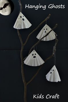 Simple Ghost Craft for kids for Halloween