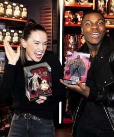 We Haven't Located Us Yet — lazoey:   Daisy Ridley and John Boyega at the Star...