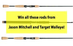 Enter to have a shot at winning (3) new Jason Mitchell Pro Walleye Series rods! Ends 8/10. #Sweepstakes