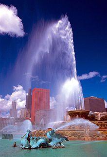 La fontaine de Buckingham à Chicago (Illinois, États-Unis).
