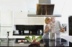 We enjoy cooking together. Kiss The Cook, Cooking Together, Kitchen, People, Photography, Cooking, Photograph, Kitchens, Fotografie