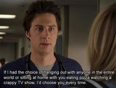 """When J.D. actually expressed himself. 