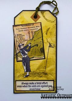 """Artistic outpost """"Golf Club"""" rubber stamps"""