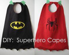 DIY superhero coffee cans | DIY Superhero Cape
