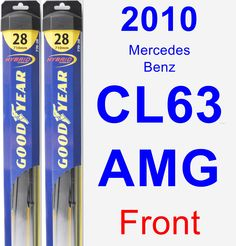 Front Wiper Blade Pack for 2010 Mercedes-Benz CL63 AMG - Hybrid