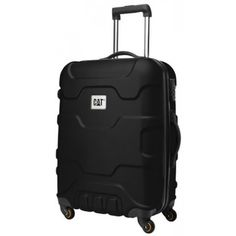 "CATERPILLAR ROLL CAGE 24"" TROLLEY CASE  A 24-inch hard-case travel spinner.  #travel #bags #durable #luggage #caterpillar"