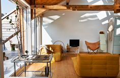 An industrial and nature loft near Zurich via mydaywith.ch