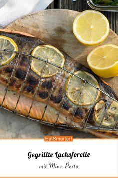 Gegrillte Lachsforelle - mit Minz-Pesto - smarter - Kalorien: 243 kcal - Zeit: 40 Min. | eatsmarter.de