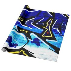 Graffiti 15 Wrapping Paper - black gifts unique cool diy customize personalize