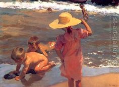 Joaquin Sorolla Y Bastida oil painting reproductions for sale, create oil paintings from your images, fine art by oil on canvas.(Joaquin Sorolla Y Bastida [Spanish painter, - page 2 Art Prints, Beach Painting, Artist Inspiration, Figure Painting, Painting, Oil Painting, Paintings I Love, Art, Beach Art