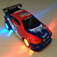 RC toy Colorful lights Electric Micro Racing Car Hobby Vehicle RC car Mini Racing hot wheels Toy Vehiclecolor random Jsuny toy