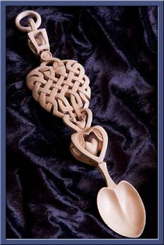 Gorgeous, intricate Welsh Love Spoon