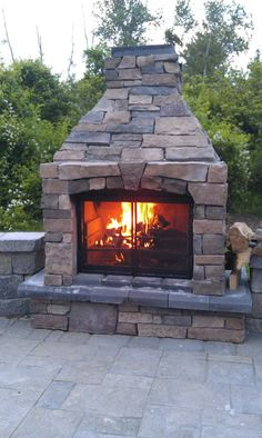 The Perfect Outdoor Fireplace is classified as a recreational fire and can be burned year round. It is made of heat dissipating stone and will not crack when used in snow or rain. Outdoor Stone Fireplaces, Outdoor Fireplace Designs, Fireplace Ideas, Fireplace Mantel, Outside Fireplace, Backyard Fireplace, Fireplace Outdoor, Backyard Retreat, Fire Pit Backyard