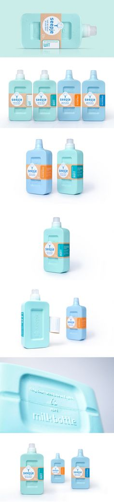 Seepje is a New Laundry Detergent With Packaging That Repurposes Food Waste Honey Packaging, Bottle Packaging, Cosmetic Packaging, Luxury Packaging, Beauty Packaging, Brand Packaging, Label Design, Branding Design, Package Design