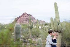 Bobby and Sara's Desert Botanical Garden engagement shoot is hot stuff!  Phoenix Bride and Groom, Arizona wedding magazine, Phoenix weddings, Fully Alive Photography