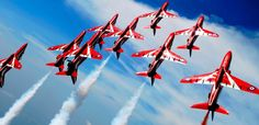 Aerial displays at Falmouth week, courtesy of the incredible Red Arrows.