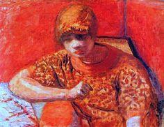 Pierre Bonnard - The orange blouse c1913 ✏✏✏✏✏✏✏✏✏✏✏✏✏✏✏✏  ARTS ET PEINTURES - ARTS AND PAINTINGS  ☞ https://fr.pinterest.com/JeanfbJf/pin-peintres-painters-index/ ══════════════════════  BIJOUX  ☞ https://www.facebook.com/media/set/?set=a.1351591571533839&type=1&l=bb0129771f ✏✏✏✏✏✏✏✏✏✏✏✏✏✏✏✏