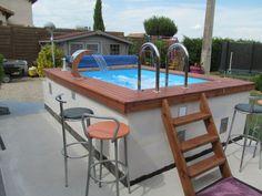 Endless Swimming Pool, Small Swimming Pools, Swimming Pools Backyard, Swimming Pool Designs, Small Indoor Pool, Pools For Small Yards, Small Backyard Pools, Raised Pools, House Awnings