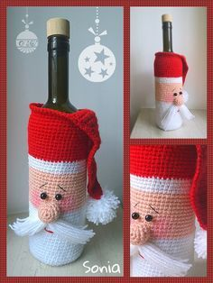 crochet idea for bottle cover ♥