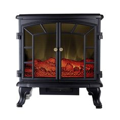 1500-Watt Infrared Electric Portable Stove Heater with Remote Control, Black