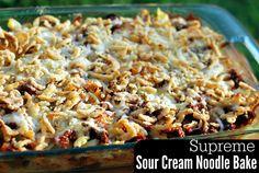 Supreme Sour Cream Noodle Bake | Aunt Bee's Recipes