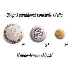 Chapas ganadoras del concurso de Otoño.