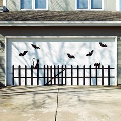 Bat And Cat Garage Door Design Pictures, Photos, and Images for Facebook, Tumblr, Pinterest, and Twitter