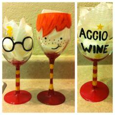 Harry potter wine glasses ⚡