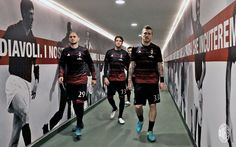 Paletta, Locatelli, and Kucka in the San Siro tunnel