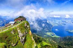 schafberg near wolfgang lake austria Schafberg Mountain - Railway in Austria's Lake District