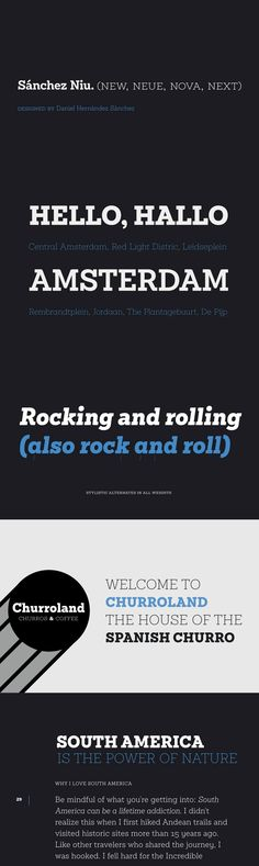 Sánchez Niu - Sánchez Niu is a redesign of Sánchez—one of the first font families by Latinotype design. Slab Serif Fonts, Font Family, Rock And Roll, Families, Type, Design, Rock Roll, Rock N Roll