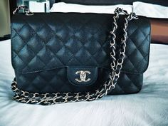 Chanel Classic Jumbo Caviar Flap w/ silver hardware. ... if only....