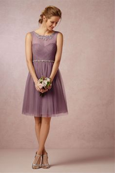 A-Line Knee-Length Bridesmaid Dress With Crystal Belt