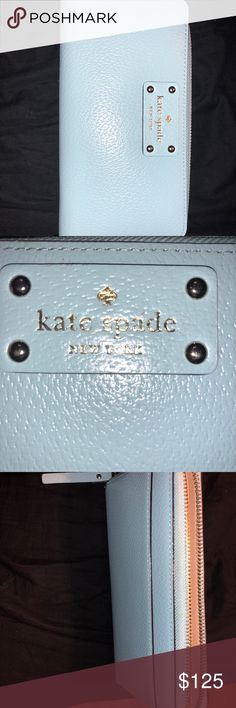 Kate Spade Wallet Barely used Kate Spade wallet. I might have used this for a week. It just didn't match my purse. kate spade Bags Wallets