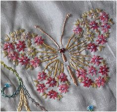 butterfly embroidery pattern | embroidery butterflies: