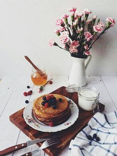Good morning fashionistas, enjoy today! #breakfast #pancakes #yummy #delicious