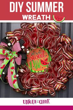 HOW SWEET IT IS! This DIY watermelon wreath is one of the best signs of summer! Learn how to make this DIY summer wreath on our live replay and make sure you grab your Unique in the Creek character wreath board to create your very own DIY summer home decor for your front porch! Get your summer crafting on at Unique in the Creek today! #diywreath #summerwreath #uitc Easy Preschool Crafts, Diy Crafts For Adults, Holiday Crafts For Kids, Diy Crafts Hacks, Diy Craft Projects, Diy Crafts To Sell, Frame Wreath, Diy Wreath, Summer Diy