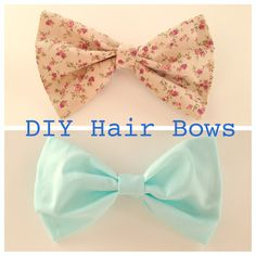 DIY Hair Bow Tutorial! LOVE and am obsessed with making bows! They make for awesome gifts and spice up every outfit. #diy #hairbows