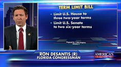 """""""It's exactly the same proposal that Donald J. Trump called for when he gave that 'Drain the Swamp' speech.""""  On """"FOX & Friends Weekend,"""" Rep. Ron DeSantis talked about the term limit bill he's pushing with Ted Cruz that he says would """"return the government more to a citizen government."""""""