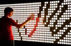 Incredible Interactive OLED Installation Lights up London Art Fair : TreeHugger