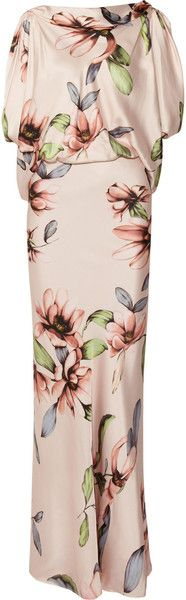 TEMPERLEY LONDON Rosine Printed Silk Gown - Lyst - More pastel ideas here: http://mylusciouslife.com/prettiness-luscious-pastel-colours/